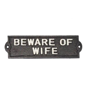 beware of wife' plaq b LC