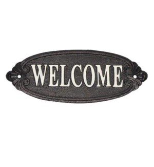 """welcome' sign, wt scrpt LC"""