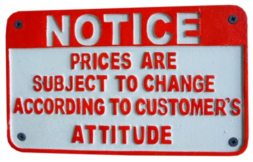 NOTICE prices are subject to change according to customers attitude sign 9.1x5.5x0.20inch