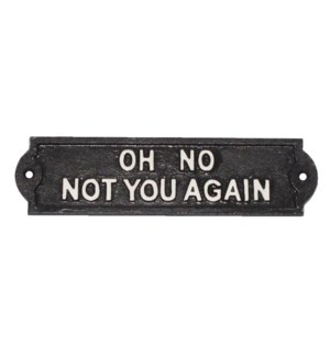 NOT YOU AGAIN plaque.