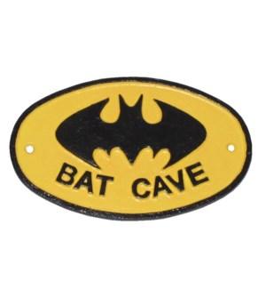 BAT CAVE plaque / sign