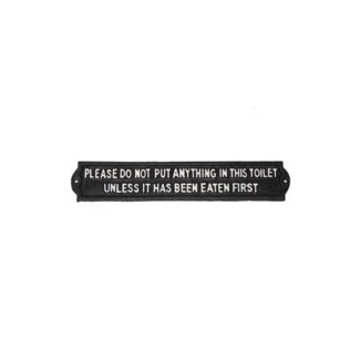 Plaque - DO NOT PUT, BlkWht, 13x2x0.25 inches