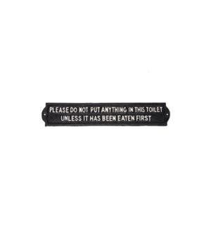 Plaque - DO NOT PUT, BlkWht, 13x2x0.25 inches