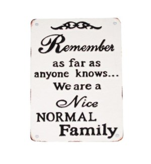 Nice Normal Family Plaque, 9.2x6.2x1