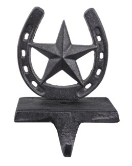Star Christmas Horseshoe Stocking Hanger 4.9x3.9x6.7inch.