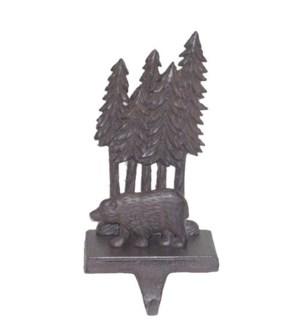 Bear+Trees  Stocking Hook