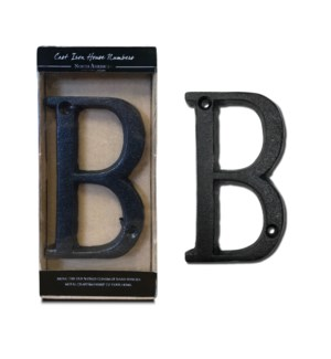 Cast Iron Letter B Black