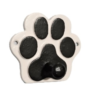 """""""Hook Paw, White with Black Paw, 4 inch"""""""