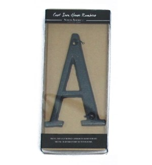 Cast Iron Rustic Letter A