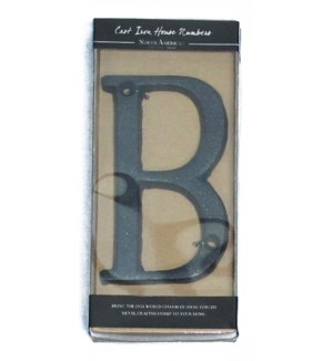 Cast Iron Rustic Letter B