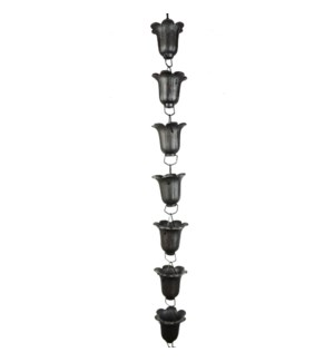 Tulip Cast Iron Rain Chain, 8 ft long
