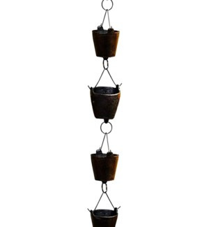 Bucket Cast Rain Chain