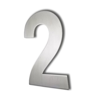 Stainless Steel 6 in. Arial Number-2 Satin Finish, 2.0 mm thick, anchor mounted