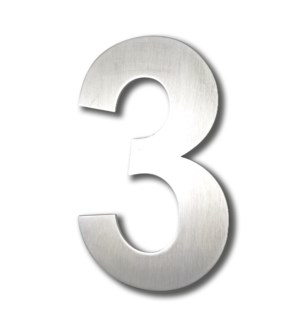 Stainless Steel 6 in. Arial Number-3 Satin Finish, 2.0 mm thick, anchor mounted