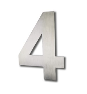 Stainless Steel 6 in. Arial Number-4 Satin Finish, 2.0 mm thick, anchor mounted