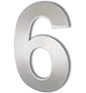 Stainless Steel 6 in. Arial Number-6 in. Satin Finish, 2.0 mm thick, anchor mounted