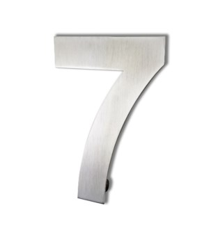 Stainless Steel 6 in. Arial Number-7 Satin Finish, 2.0 mm thick, anchor mounted