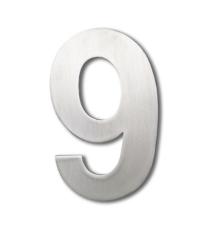 Stainless Steel 6 in. Arial Number-9 Satin Finish, 2.0 mm thick, anchor mounted