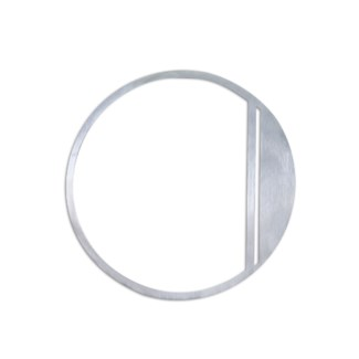 Stainless Steel 6  ArtDeco Number-0 Satin Finish, 2.0 mm thick, anchor mounted 6  Wide