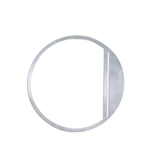 Stainless Steel 6 in.  ArtDeco Number-0 Satin Finish, 2.0 mm thick, anchor mounted 6 in.  wide