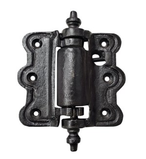 Spring Hinge Cast Iron Black