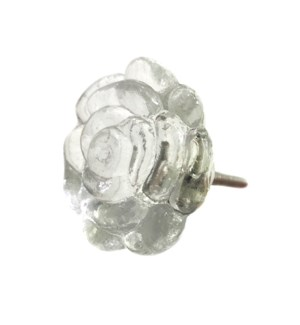 Rose Glass Knob