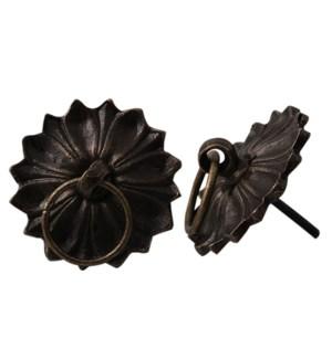 Floral Pattern Metal Knobs