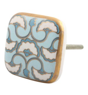 """""""Handmade Ceramic Knobs, Multicolor (Turquoise, Golden and W"""""""