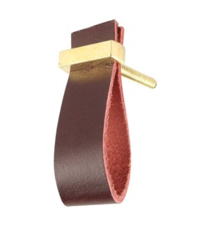 """""""Handmade Knob, Cherry, Faux Leather and Metal"""""""