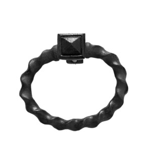 """""""Twisted Ring Pull, Rustic Black, Iron"""""""