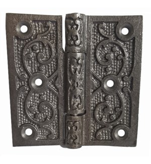 Filigree Hinge Antique Metal 4x4 inches