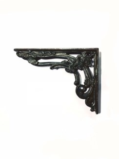 Baroque Shelf Bracket, Black, 8x6x1 inches *Last Chance*