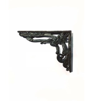 Baroque Shelf Bracket, Black, 8x6x1 inches