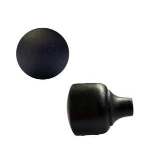 """Round cast iron knob, Large"""