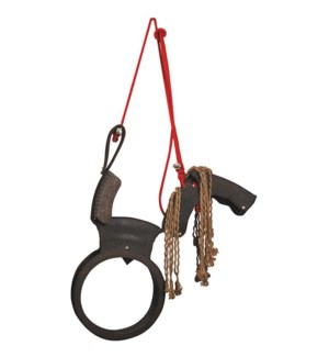Horse swing. Rubber, nylon. 84,5x16,0x104,0cm. oq/2,mc/1 Pg.102
