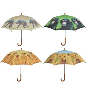 Children umbrella out of Africa ass. Polyester, metal, PP. 71,0x71,0x58,0cm. oq/12,mc/60 Pg.99
