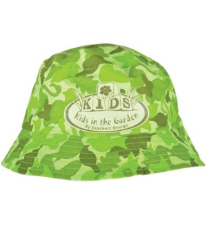 Children hat camouflage print.