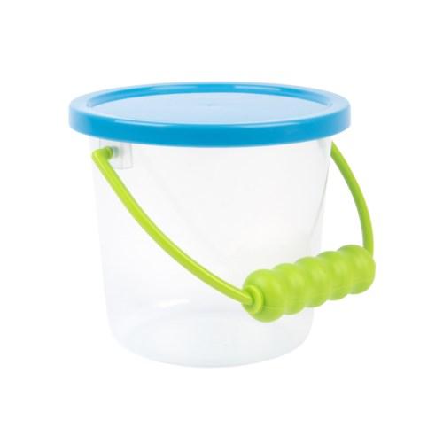 Transparent bucket with lid