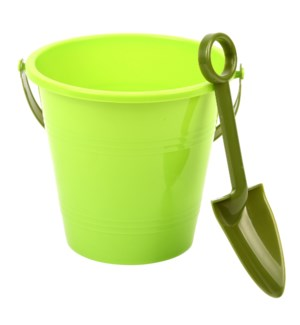 Children bucket with shovel plastic - (6x5.7x5.4, 2.3x.9x7.3 inch)