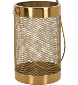 Lantern Iron Mesh Gold Clr