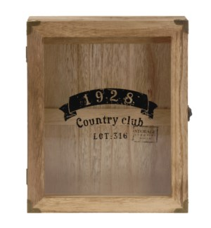 Country Club Key Cabinet, wood, 9.45x2.36x11.81 inch. *last chance* On Sale 30 percent off!