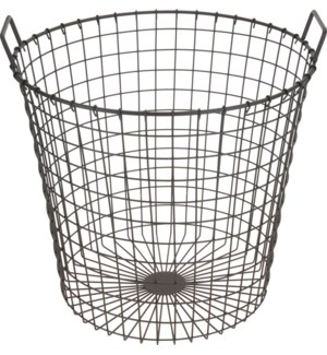 Rustic Metal Basket Metal 18Dx17.9inch *Last Chance* On Sale 30 percent off!