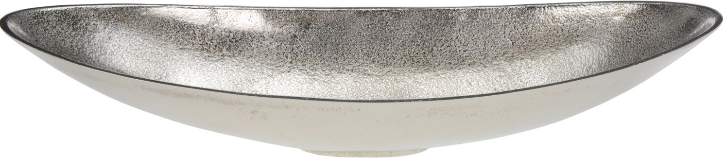 A04998260 - Long Oval Bowl, Raw Aluminum Finish, 19.7x7x50X3.7 in.