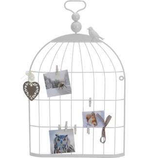 AAE250150. Birdcage Cardholder Wht