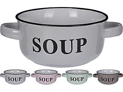 SOUP Bowl W /Handles 4Asst