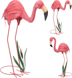 557200050-Metal Flamingo, 2/Asst, 19.5x11.5x25.5 inches  On sale 35% off LAST CHANCE!