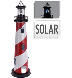 """""""575000070 SOLAR LIGHT HOUSE, METAL AND PP, SIZE:"""""""