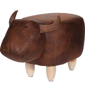 HZ1200500 Leather Bull Stool