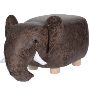 HZ1200510 Leather Elephant Stool