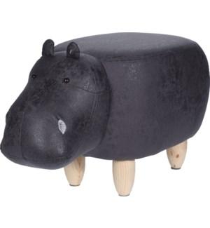 HZ1200520 Leather Hippo Stool